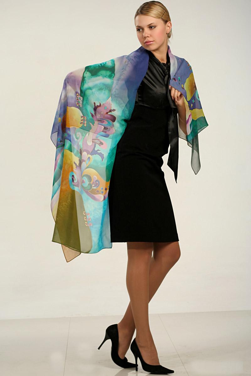 How to silk wear scarf with dress